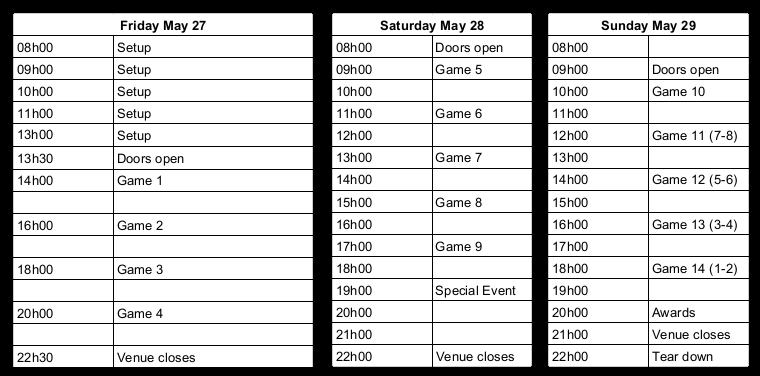 Schedule - Game Schedule